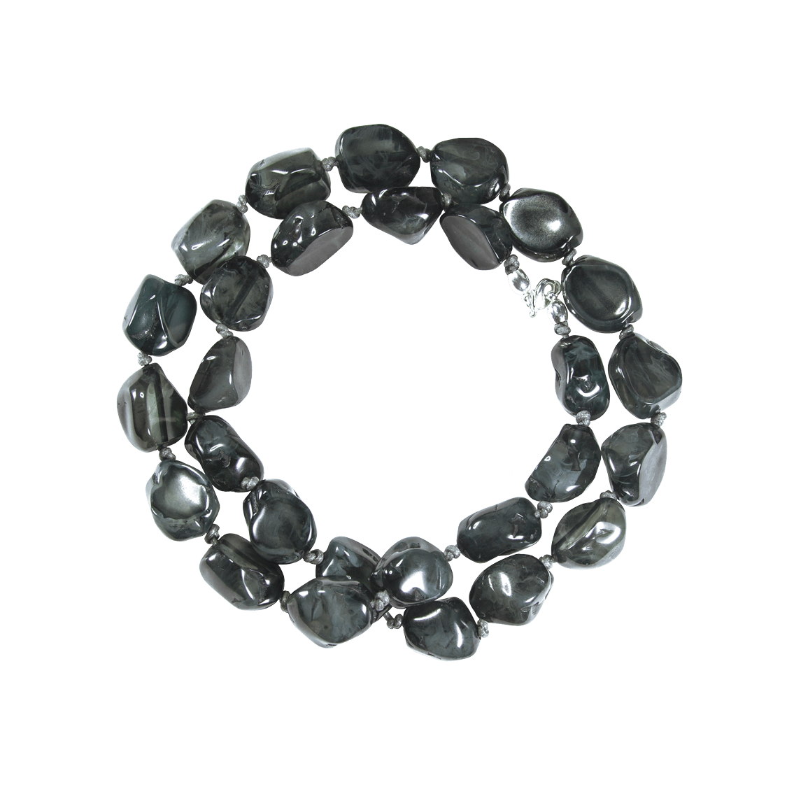 Collar de resina natural color gris antracita