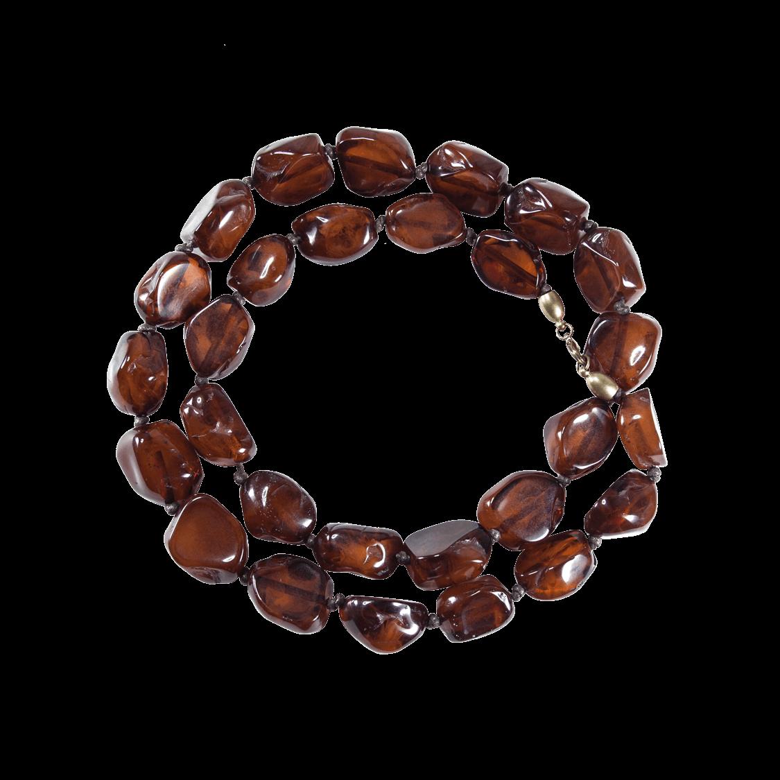 Collar de resina natural color marrón
