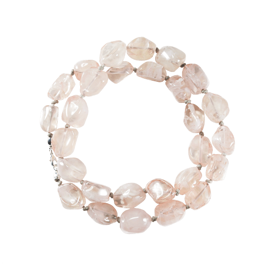 Collar de resina natural color nude